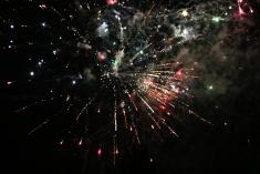 Novoroční ohňostroj dne 1.1. 2020