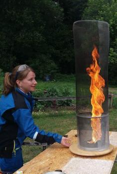 ohnivé tornádo