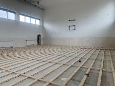 Podklad podlahy je dokončen